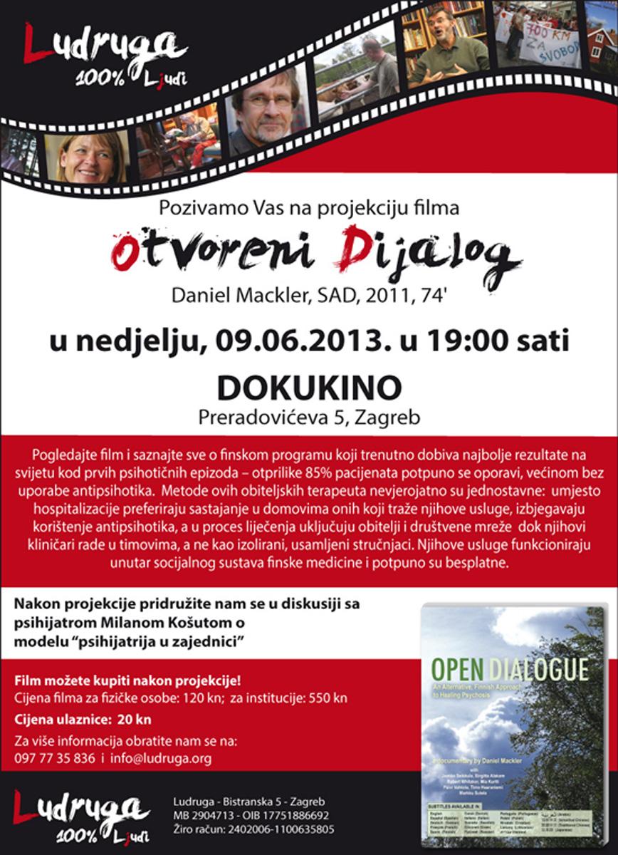 Plakat Otvoreni dijalog